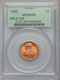 Lincoln Cents, (2)1995 1C Doubled Die Obverse MS66 Red PCGS. PCGS Population(4438/5462). NGC Census: (1434/16025).... (Total: 2 coins)