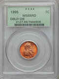 Lincoln Cents, (3)1995 1C Doubled Die Obverse MS65 Red PCGS. PCGS Population(1257/9900). NGC Census: (311/17459).... (Total: 3 coins)