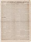 Miscellaneous:Newspaper, [Newspaper]. Manufacturers & Farmers Journal, and Providenceand Pawtucket Advertiser, July 28, 1836....