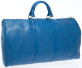 Luxury Accessories:Bags, Louis Vuitton Blue Epi Leather Keepall 50 Overnight Bag . ...