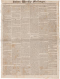 Miscellaneous:Newspaper, [Newspaper]. Boston Weekly Messenger, May 15, 1823....