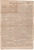 Miscellaneous:Newspaper, [Newspaper]. National Intelligencer, September 7, 1822....