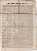 Miscellaneous:Newspaper, [Newspaper]. Portsmouth Journal, October 31, 1835....