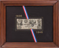 Autographs:Statesmen, [Mirabeau B. Lamar]. Engraved Republic of Texas Fifty DollarNote....