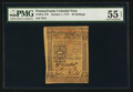 Colonial Notes:Pennsylvania, Pennsylvania October 1, 1773 50s PMG About Uncirculated 55 EPQ.....