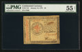 Colonial Notes:Continental Congress Issues, Continental Currency January 14, 1779 $5 PMG About Uncirculated 55Net.. ...