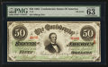 Confederate Notes:1863 Issues, T57 $50 1863 PF-14 Cr. 412/4.. ...