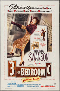 "Three for Bedroom C (Warner Brothers, 1952). One Sheet (27"" X 41""). Comedy"