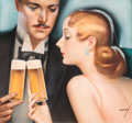"""Pin-up and Glamour Art, GEORGE PETTY (American, 1894-1975). """"They All Say Yes,"""" probableAtlas beer advertisement, circa 1930s. Gouache and wate..."""