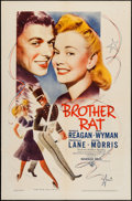 """Movie Posters:Romance, Brother Rat (Warner Brothers, R-1944). One Sheet (27"""" X 41""""). Romance.. ..."""