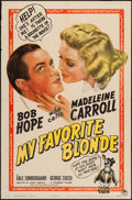 """Movie Posters:Comedy, My Favorite Blonde (Paramount, 1942). One Sheet (27"""" X 41""""). Comedy.. ..."""