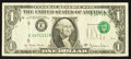 Error Notes:Shifted Third Printing, Fr. 1910-E $1 1977A Federal Reserve Note. Very Fine.. ...