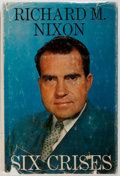 Books:Americana & American History, Richard M. Nixon. SIGNED. Six Crises. Doubleday &Company, 1962. First edition. Signed by Nixon on the flyleaf. ...