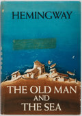 "Books:Literature 1900-up, Ernest Hemingway. The Old Man and the Sea. CharlesScribner's Sons, 1952. First edition (Scribner ""A"" and seal o..."