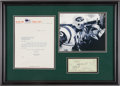 Football Collectibles:Photos, Weeb Ewbank Signed Check and Allie Sherman Letter Display....