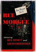 Books:Horror & Supernatural, Rex Stout and Louis Greenfield, editors. Rue Morgue No. 1. New York: Creative Age Press, [1946]. First edition. Publ...