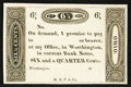 Obsoletes By State:Ohio, Worthington, OH - Ezra Griswold 6-1/4¢ 18__ Wolka 2875-02Remainder. ...