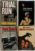 Books:Mystery & Detective Fiction, Dick Francis. Three First Editions. Includes Bonecrack, Rat Race, High Stakes, and Trial Run. 1971-1978. Various... (Total: 4 Items)