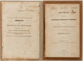 Books:Americana & American History, [John Quincy Adams]. Message from the President of the UnitedStates, to Both Houses of Congress... Includes three m...