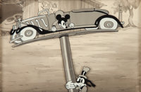 Mickey's Service Station Mickey and Goofy Production Cel and Master Background (Walt Disney, 1935).... (Total: 2 Origina...