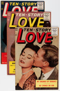 Golden Age (1938-1955):Romance, Ten Story Love Group (Ace, 1955-56) Condition: Average VF....(Total: 7 Comic Books)