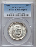 Commemorative Silver: , 1948 50C Booker T. Washington MS65 PCGS. PCGS Population (714/252).NGC Census: (427/222). Mintage: 8,005. Numismedia Wsl. ...