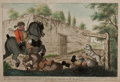 "Books:Prints & Leaves, Henry Bunbury (1750-1811), caricaturist. Hand-Colored EngravedEnglish Caricature ""The Overthrow of Dr. Slop"". 15.75"" x 10.7..."
