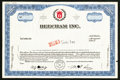 Miscellaneous:Other, Beecham Inc. Specimen Stock Certificate.. ...