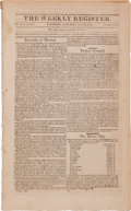 Miscellaneous:Booklets, First Declaration of Independence by the Province of Texas Printed in The Weekly Register....