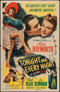 "Movie Posters:Musical, Tonight and Every Night (Columbia, 1945). One Sheet (27"" X 41"").Musical.. ..."