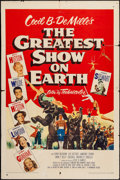 """Movie Posters:Drama, The Greatest Show on Earth (Paramount, 1952). One Sheet (27"""" X 41""""). Drama.. ..."""