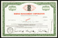 Miscellaneous:Other, Science Management Corporation Specimen Stock Certificate.. ...