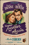 "Movie Posters:Comedy, Together Again (Columbia, 1944). One Sheet (27"" X 41""). Comedy....."