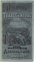 """Miscellaneous:Ephemera, [Map]. The """"Bird's-eye View"""" of the Houston & Texas CentralRy. And its Northern Connections from Chicago and St. Louis...."""