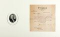 "Autographs:U.S. Presidents, Theodore Roosevelt Typed Letter Signed. One page, 6.5"" x 7""(sight), New York, December 17, 1912, to Louis Evan Shipman rega..."
