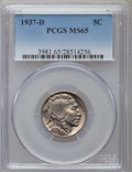 Buffalo Nickels: , 1937-D 5C MS65 PCGS. PCGS Population (3723/1780). NGC Census:(1366/1966). Mintage: 17,826,000. Numismedia Wsl. Price for p...