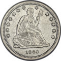 Seated Quarters, 1860-S 25C -- Improperly Cleaned -- NCS Genuine....