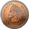 Proof Indian Cents, 1868 1C PR65 Red Cameo PCGS....