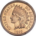 Indian Cents, 1860 1C Pointed Bust MS67 PCGS....