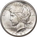 Peace Dollars, 1921 $1 MS66 PCGS. CAC....