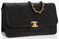 Luxury Accessories:Bags, Chanel Black Quilted Leather Medium Flap Bag with Gold Hardware....