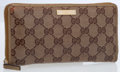 Luxury Accessories:Accessories, Gucci Brown Monogram Canvas Continental Wallet . ...
