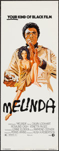 "Movie Posters:Blaxploitation, Melinda (MGM, 1972). Insert (14"" X 36""). Blaxploitation.. ..."