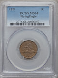 Flying Eagle Cents, 1857 1C MS64 PCGS....