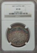 Bust Half Dollars, 1807 50C Capped Bust, Large Stars XF40 NGC. O-114a, High R.5....