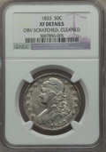 Bust Half Dollars: , 1833 50C -- Cleaned, Obv Scratched -- NGC Details. XF. NGC Census:(85/1212). PCGS Population (154/1266). Mintage: 5,206,00...
