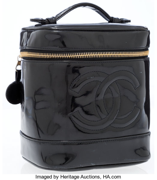 8e5c9ed85a37a1 Luxury Accessories:Bags, Chanel Black Patent Leather Cosmetic Pouch Bag.