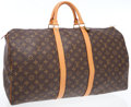 Luxury Accessories:Travel/Trunks, Louis Vuitton Classic Monogram Canvas Keepall 55 Overnight Bag ....