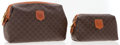 Luxury Accessories:Accessories, Celine Set of Two; One Large & One Small Celine Brown MonogramCanvas Pouch Bag. ...