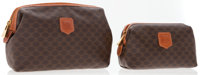 Celine Set of Two; One Large & One Small Celine Brown Monogram Canvas Pouch Bag